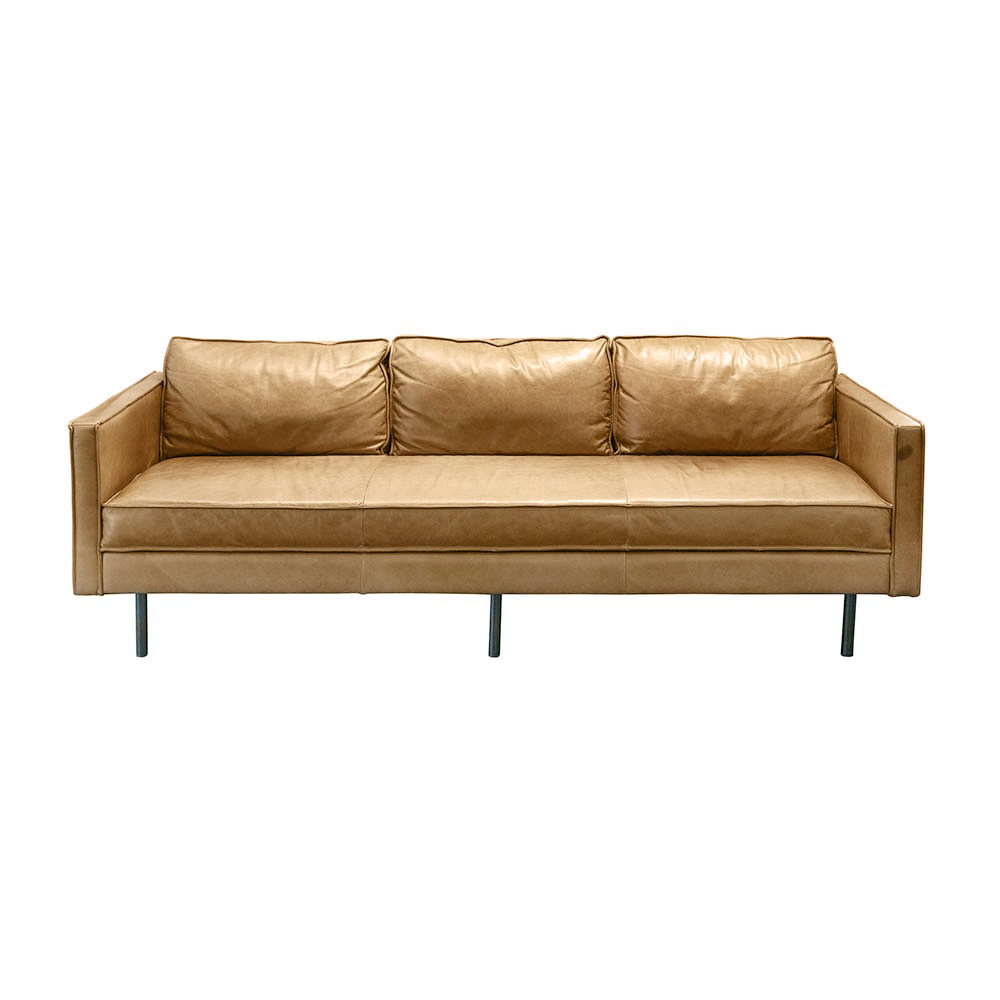 West Elm Leather Sofa sold for $1,895