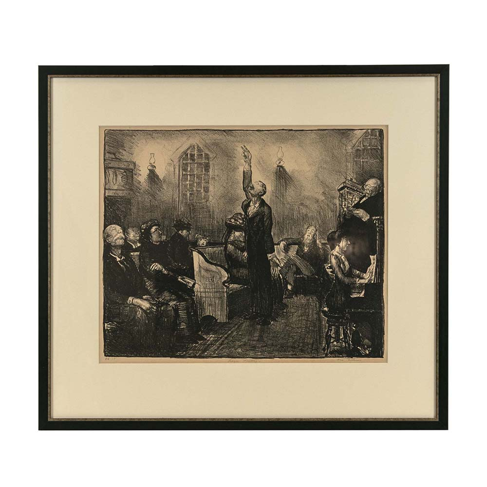George Bellows 1st Stone Lithograph sold for $2,200